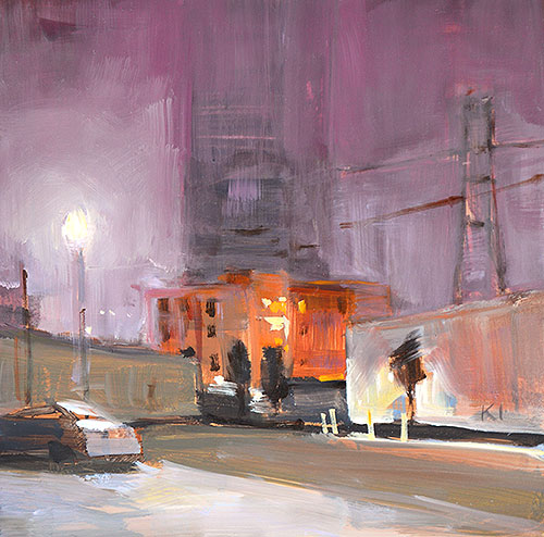 San Diego Nocturne Night Painting