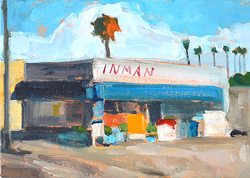 Buy Now Painted on location this morning in OB.