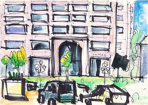 Hazard Center San Diego Watercolor