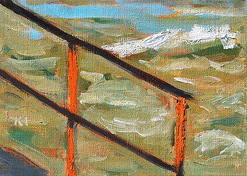Rusty Handrail, Ocean Beach San Diego