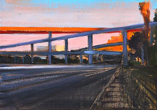 I-5 At Dusk, San Diego Freeway Painting