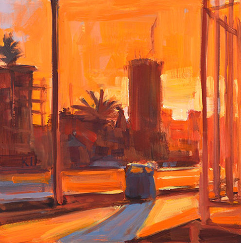 San Diego Cityscape Skyline Painting