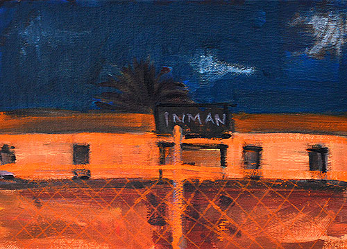 San Diego Night Painting Construction Site