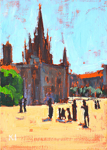 Barcelona Cathedral Painting