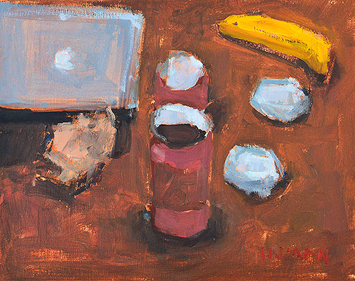 Coffee Shop Still Life Painting