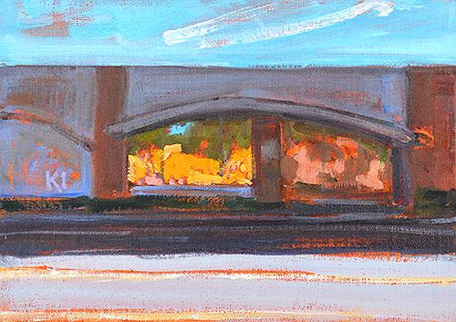 Coronado Bank, San Diego Landscape Painting