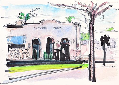 Coronado Watercolor Painting San Diego