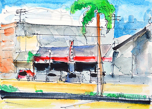 San Diego Watercolor Painting