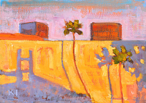Los Angeles Urban Landscape Painting
