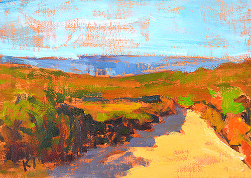 Laguna Beach Canyon Landscape Painting
