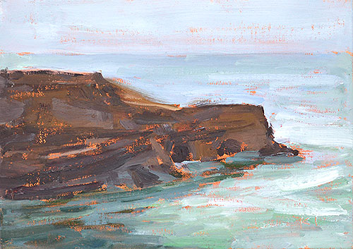 Ocean Beach Painting San Diego Sunset Cliffs