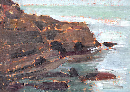 Sunset Cliffs Ocean Beach Painting