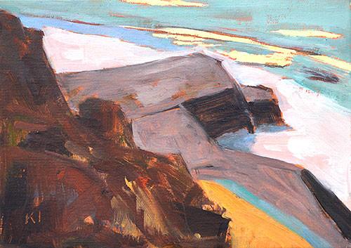 Cabrillo San Diego Plein Air Oil Painting
