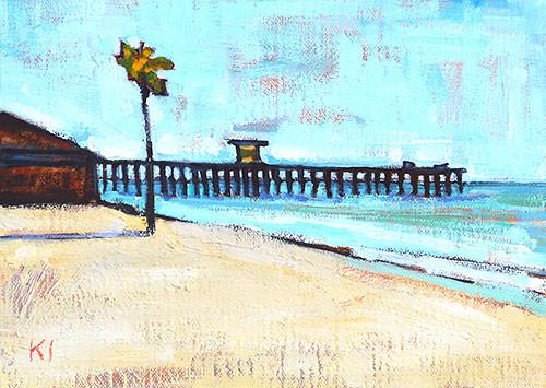 San Clemente Pier Beach Painting