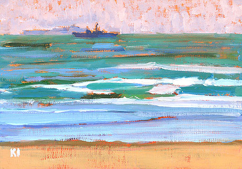 Coronado Beach Painting San Diego Plein Air
