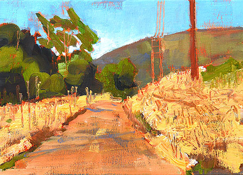 Laguna Canyon Landscape Painting Orange County Plein Air