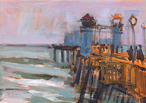 Oceanside Pier Painting Plein Air San Diego