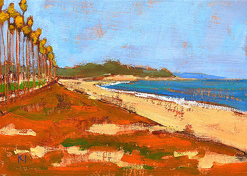 Santa Barbara Beach Painting East Beach