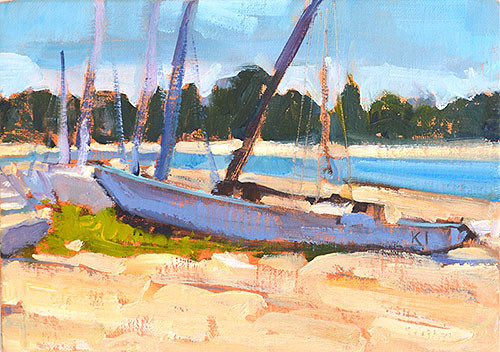 Sailboats Mission Bay San Diego Plein Air Painting