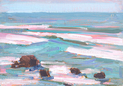 Cabrillo Surf San Diego Plein Air Painting