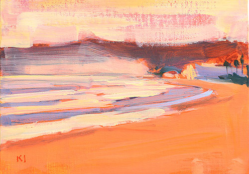 Coronado Beach Painting Sunset Plein Air