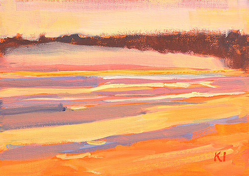 Coronado Sunset San Diego Plein Air Painting