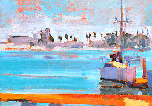Coronado Sailboat Painting