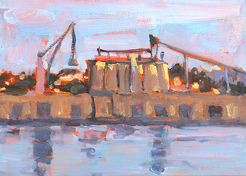 10th Avenue Cargo Terminal San Diego Painting