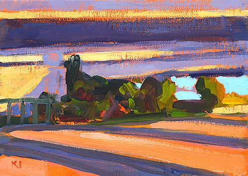 Freeway Plein Air Painting San Diego