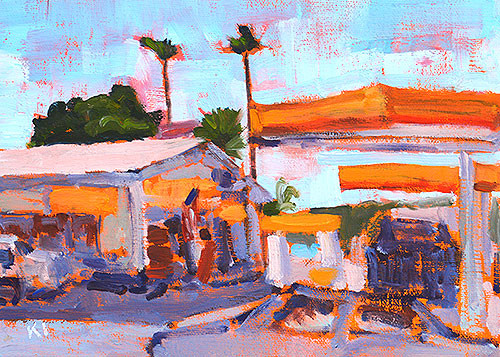 San Diego Plein Air Ocean Beach Gas Station