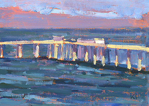 Ocean Beach Pier Painting San Diego Plein Air