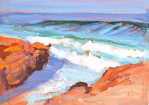 Windiness Beach La Jolla Plein Air Painting