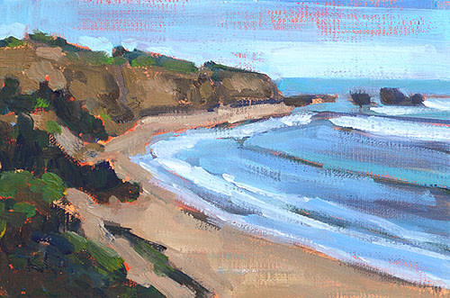 Greyhound Rock, Santa Cruz Landscape Painting