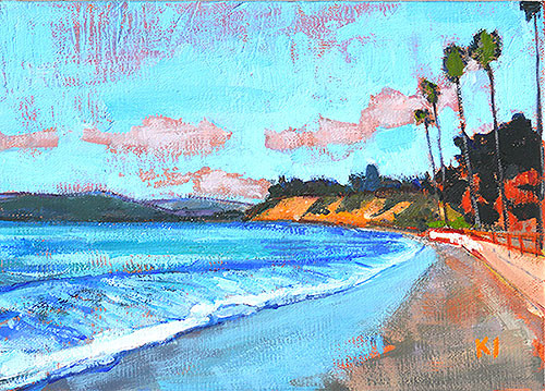 Butterfly Beach Painting Santa Barbara