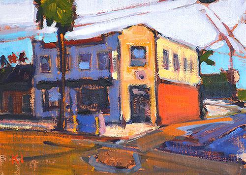 Ocean Beach, San Diego City Painting
