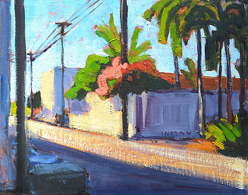 Alley in North Park San Diego Painting