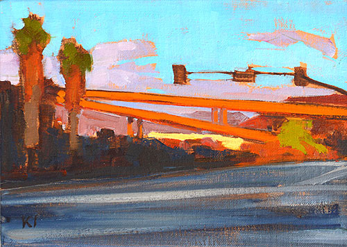 California Freeway Painting San Diego Kevin Inman