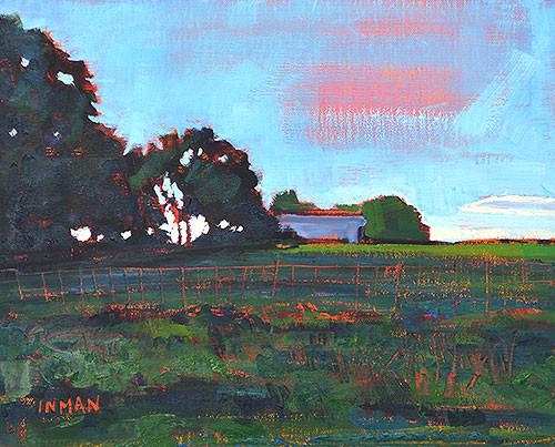 Oklahoma Farm Landscape Painting