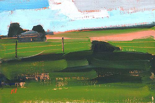 Oklahoma Landscape Painting Farm