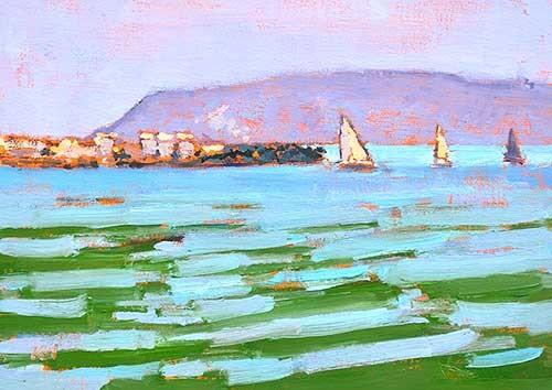 San Diego Bay Painting Plein Air Kevin Inman