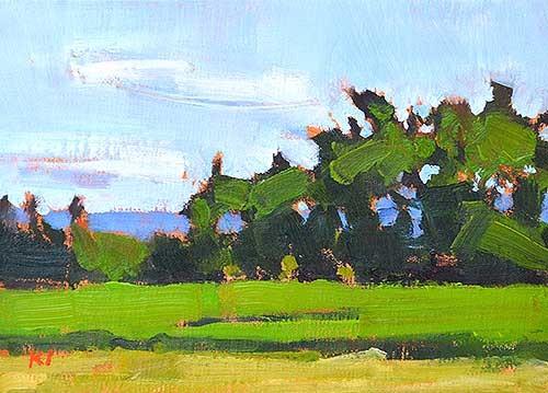 Boise Idaho Farm Landscape Painting