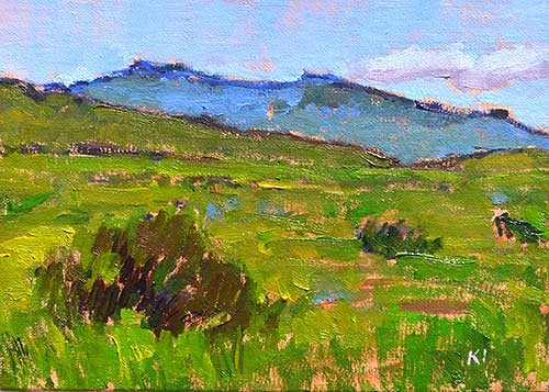Boise Idaho Landscape Painting Original Oil