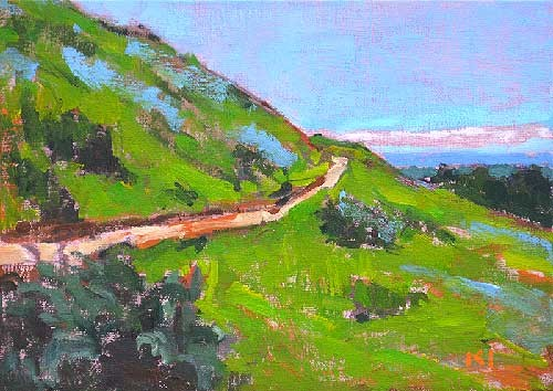 Boise Idaho Hiking Trail Landscape Painting