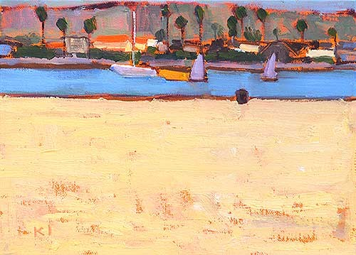 Ocean Beach Painting Kevin Inman Plein Air