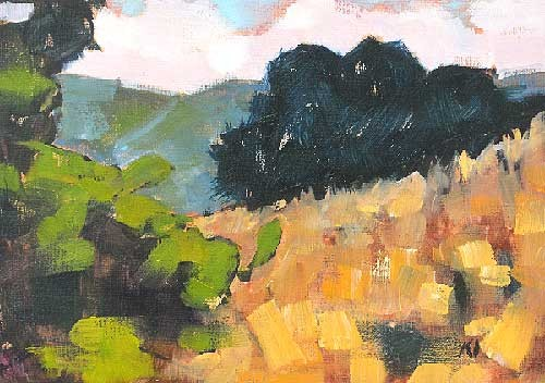 Laguna Landscape Painting Laguna Canyon
