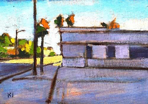 Laundromat Santa Barbara Painting Kevin Inman