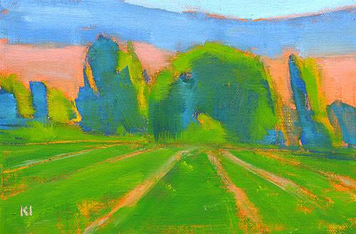 Boise Summer Farm Landscape Painting Kevin Inman