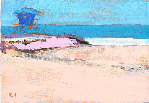 Lifeguard Tower Ocean Beach San Diego Plein Air Painting Kevin Inman