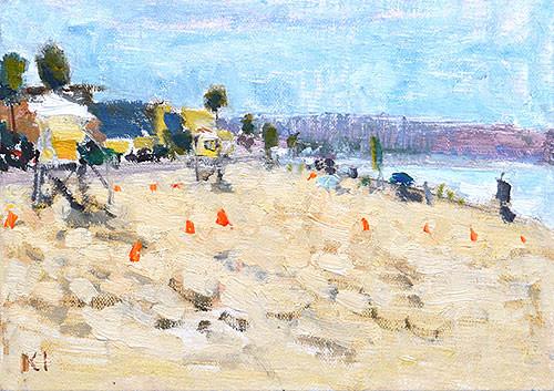 Pacific Beach Painting San Diego Plein Air Impressionism Kevin Inman