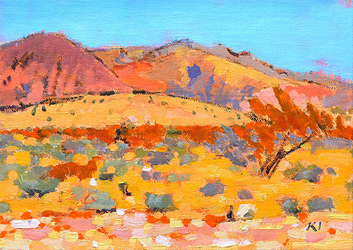 Red Rocks Landscape Painting Las Vegas Nevada